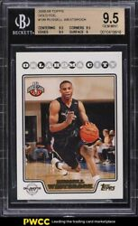 2008 Topps Gold Foil Russell Westbrook Rookie Rc 199 Bgs 9.5 Gem Mint