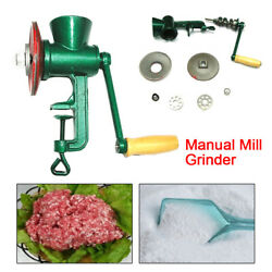Us Cast Iron Mill Grinder Hand Crank Manual Grains Oats Corn Wheat Coffee Nuts