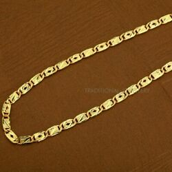 Pure 22kt 20kt Gold Customized Fancy Nawabi Royal Chain Necklace Jewelry 36