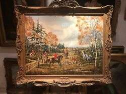 Oil Painting Old Large British School 20th Century Beautifully Executed Piece