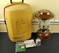 Dated 1976 Coleman Lantern 275 With Clamshell Case Brown Vtg Camping Vtg Usa