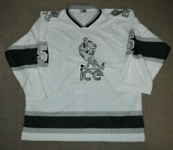 Indianapolis Ice Game Worn Issued Throwback Chl Hockey Jersey Authentic Sz 56