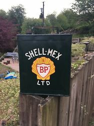 Shell Mex Vintage 2 Gallon Petrol Fuel Oil Jerry Can Man Cave Display