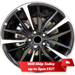 New 19 Machined Black Alloy Wheel Rim For 2018 2019 2020 Toyota Camry 75222 Xse
