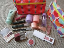 Mixed Lot Of 18 New Clinique Lipstick, Mascara, Eyeliner Eyeshadow, Blush And More