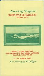 Uss Mariano G. Vallejo Ssbn-658 Launching Program 1965 - Printed On Five Pages