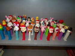 Vintage Lot Of 47 Pez Dispensers See All Pictures