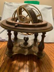 Vintage Globe Reproduction Of 1507 Italian Celestial Astrological Signs On Stand