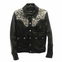 Dsquared2 18aw Look33 Western Leather Single Jacket S71an0016 Sx7818