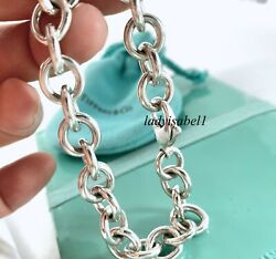 And Co Silver 7.5 Circle Round Donut Link Love Bracelet Gift W Pouch 215e