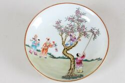 A Chinese Joyful-kid Fortune Porcelain Plate