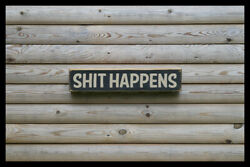 Shite Happens Party Bar Vintage Style Signs Antique Man Cave Beer Home Brew