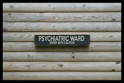 Psychiatric Ward Vintage Style Signs Antique Man Cave Beer Home Brew