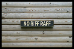 No Riff Raff Bar Vintage Style Signs Antique Man Cave Beer Home Brew