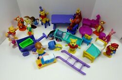 Vintage Winnie The Pooh And Friends Playset Pvc 3 Figures Party Learning Bedtime
