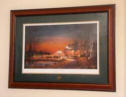 Terry Redlin Nwtf 1989 Print Welcome To Paradise Hand Embossed Artists Sig.