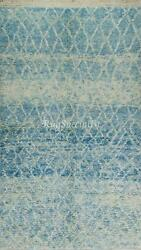 Contemporary Berber Moroccan Azilal Rug, 100 Wool, Custom Options Available