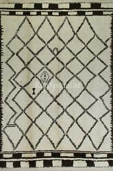 Moroccan Azilal Style Berber Rug Made Of Natural Undyed Wool