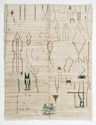 Contemporary Moroccan Rug. 100 Natural Undyed Wool. Custom Options Available