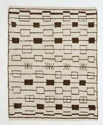 Contemporary Moroccan Beni Ourain Rug, 100 Natural Undyed Wool