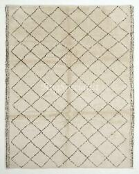 Contemporary Moroccan Azilal Rug, 100 Wool Carpet