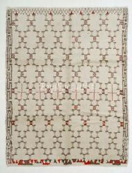 Boho Chic Moroccan Rug, 100 Natural Undyed Wool, Custom Options Available