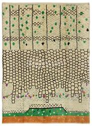 Contemporary Hand Knotted Moroccan 100 Wool Rug. Custom Options Available