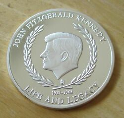 John Fitzgerald Kennedy Commemorative Medal Life And Legacy Silver Plated Copper
