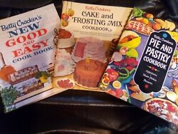 3 Vintage 1st Editions Betty Crocker's Cookbooks Pie And Pastry Good And Easy