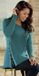 Size 2x Plus Ashro Catalog Teal Green Margot Sweater Blouse Top New With Tags