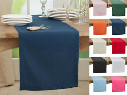 Fennco Styles Classic Everyday Design Solid Color Table Runner, 10 Colors