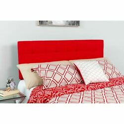 Modern Bedford Tufted Upholstered Twin Size Headboard In Red Fabric