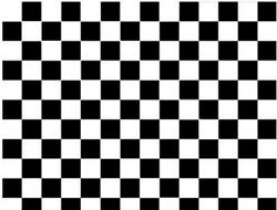 75ft Checkered Tile Black White Self-adhesive Removable Contact Wall Paper