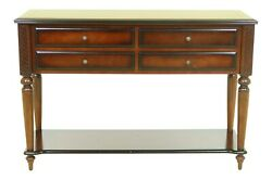F32887ec Bombay Co Mahogany 4 Drawer Console Or Hall Table