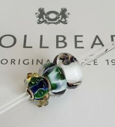 Authentic Trollbeads Glass Bead Charms Lot Of 3 Unique And Beautiful