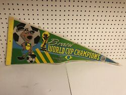 Brazil World Cup Champions Los Angeles 1994 Pennant Soccer Football Vintage 30