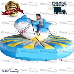 13ft Inflatable Shark Manual Human Bull Riding Sport Game With Air Blower