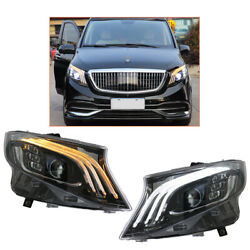 Headlight Assembly 2016-2020 For Benz Metris Hid Projector Led Drl Replace Oem