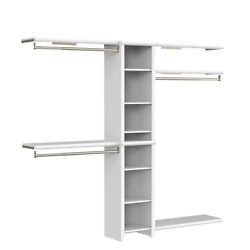 Closetmaid Wood Closet System 108 In. W X 82.46 In. H Wall Mount Laminate White