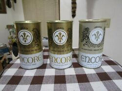 3 Very Nice Encore 12 Oz Ss Pull Tab Beer Cans 65/35 37 39 Schlitz 1968 69 71