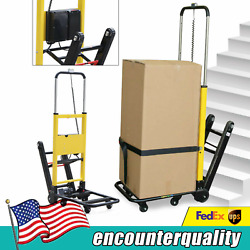 6 Wheels Electric Stair Climbing Hand Truck Folding Utility Cart 440lb Max.load