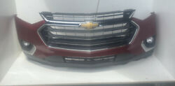 2018-2021 Chevy Traverse Front Bumper Assembly W/fog Lights Red T5 Oem