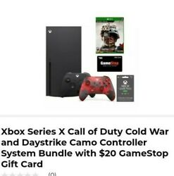 Xbox Series X Call Of Duty Cold War And Daystrike Camo Controller System Bundle