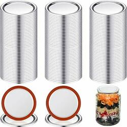 100 Pieces Mason Canning Lid Jar Split-type Lids With Silicone Seals Rings