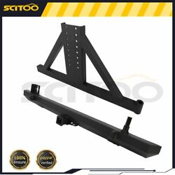 Rear Step Bumper Adjustable Mounting Tire Carrier For 87-06 Jeep Wrangler Tj Yj