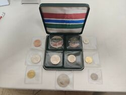 The Gambia 1966-1970 Proof Set With Silver 8s Coin And Spare Coins