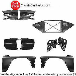 1966 Chevy Truck Fenders Extensions Inner Fenders Core Support Shield Brackets+
