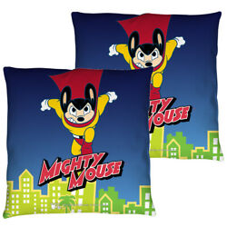 Mighty Mouse City Watch Double Sided Throw Or Body Pillow