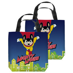 Mighty Mouse City Watch Double Sided Tote Bag - 4 Sizes