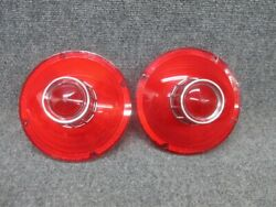 Pair Of 1963 Ford Galaxie Tail Light Lamp Lens Without Backup Lens